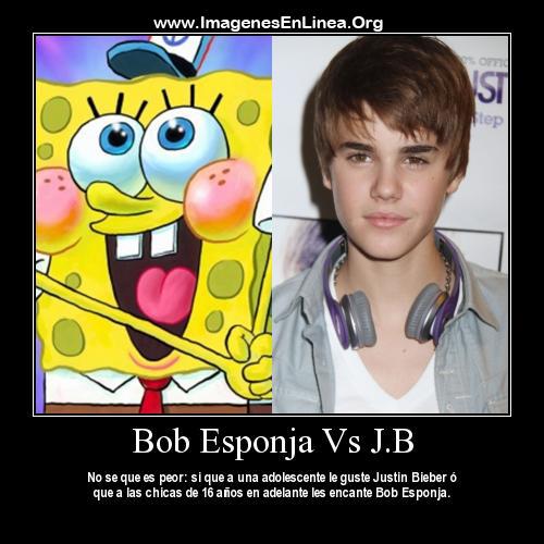 Bob esponja vs Justin