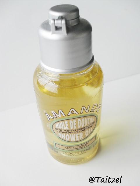 Uleiul de baie hidratant cu extract de migdale:  Almond shower gel l'occitane