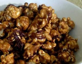 Peanut Butter Choco Caramel Popcorn