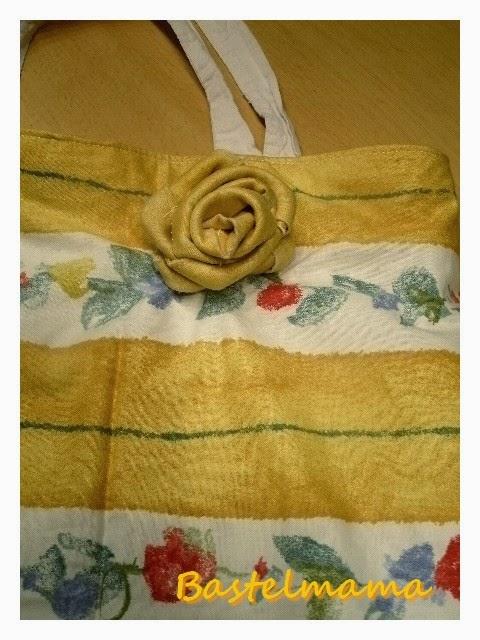 neue Tasche um eine Baumwolltasche nähen