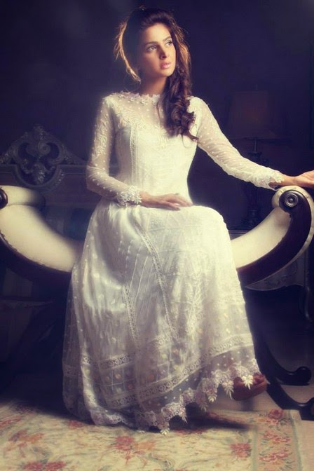 Party wear white dresses by rani siddiqi wwwfashionhuntworldblogspot 11  - Party Wear White Dresses 2014 By Rani Siddiqi
