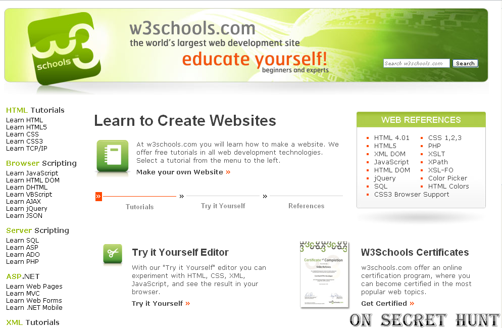w3schools learn html and css W3schools maintains a complete javascript reference, including all html dom, and browser objects the reference contains examples for all objects, properties, and methods, and is continuously updated according to the latest web standards.