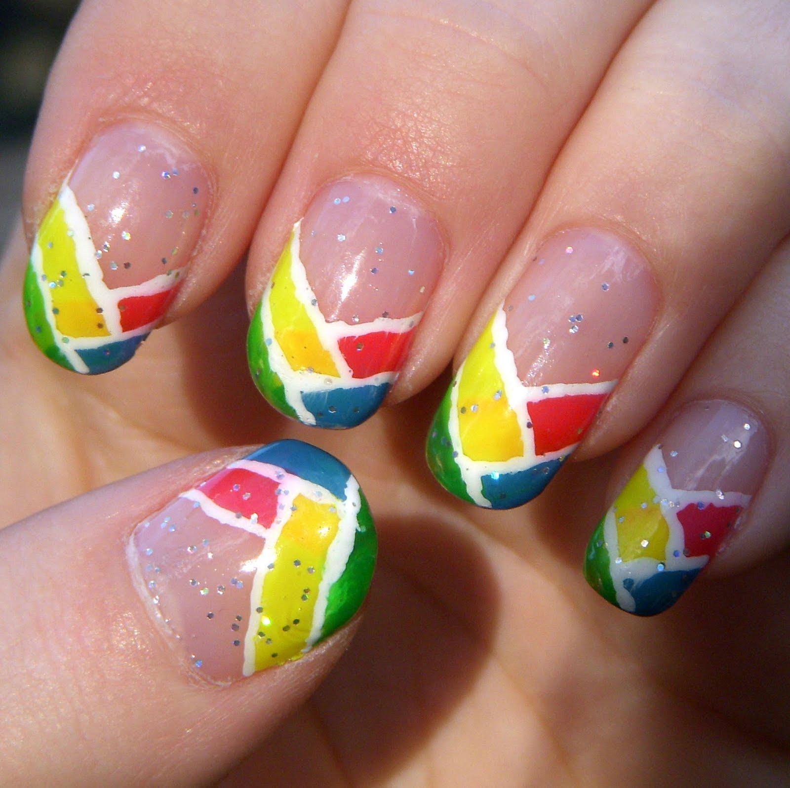 Quixii's Nails: 02/25/12  Neon CrissCross