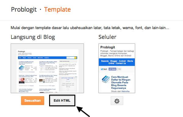 Cara Membuat Dan Mengatur Menu Navigasi Pada Template Blog