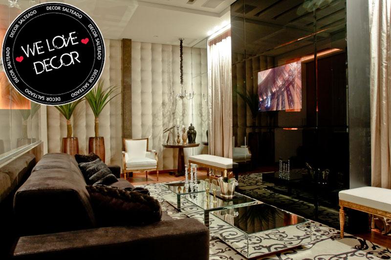 Sala de tv moderna e sofisticada we love decor decor for Salas de television modernas