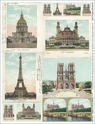 Paris Postcards Color Collage Sheet