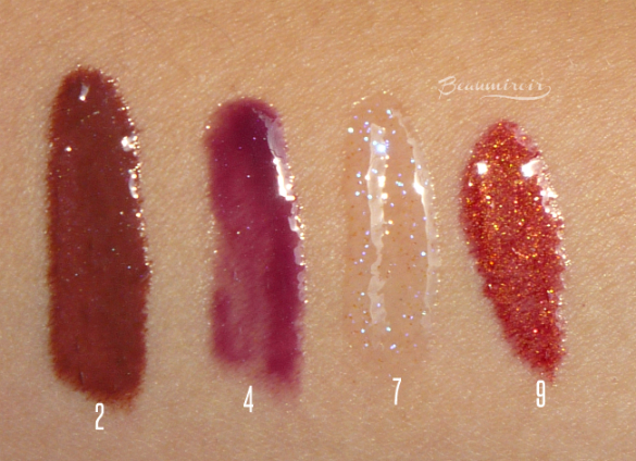 Winter beauty: my favorite lipglosses - swatches