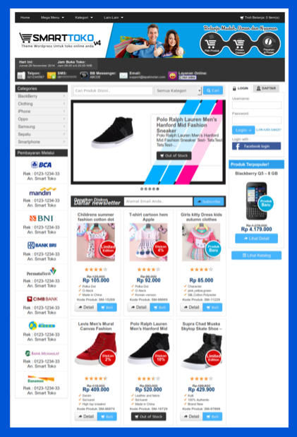 Theme blog toko online