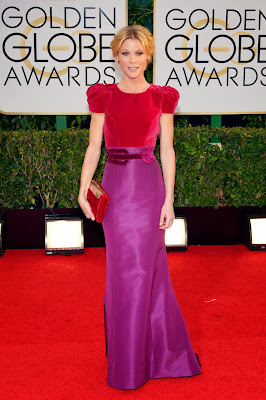 Golden Globes Red Carpet Fashion 2014 purple scarf by melanie.ps blogger from toronto celebrity style
