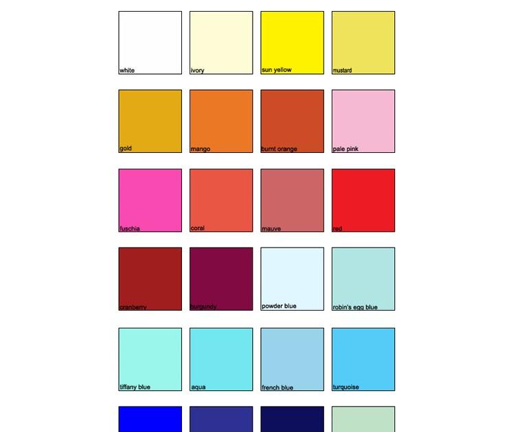 krafbunga kombinasi warna tema perkahwinan