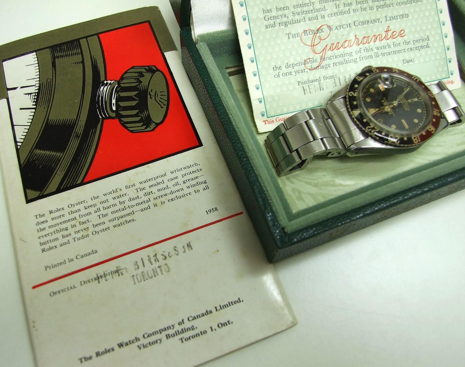watch swap cafe vintage rolex gmt master ref 6542 box. Black Bedroom Furniture Sets. Home Design Ideas