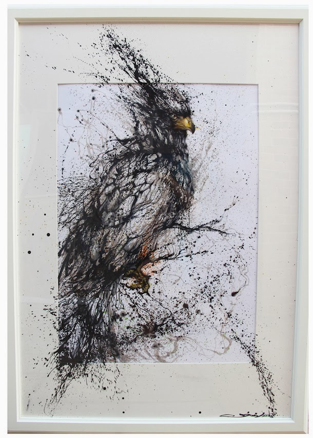 02-Bird-1-Hua-Tunan-huatunan-Melting-&-Running-Ink-Drawings-www-designstack-co