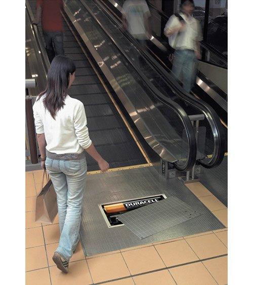 Duracell Escalator - Iklan stiker kreatif