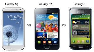 Samsung Galaxy S3 vs Galaxy S2 vs Galaxy S
