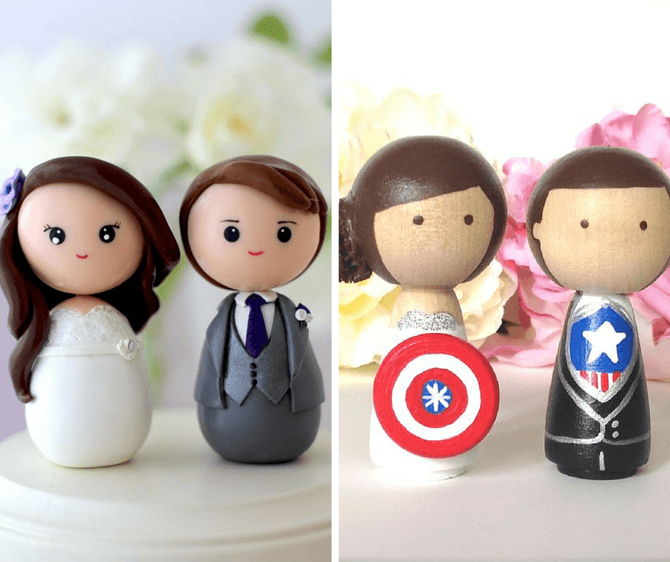 интересни и сладки топери за сватбени торти