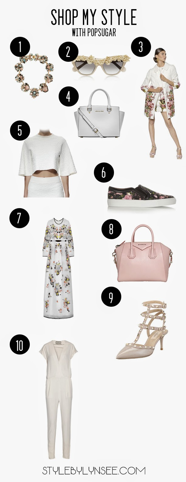 popsugar, anna karin karisson, valentino, valentino rockstud, erickson beamon, swarovski, dolce and gabbana, givency, skate shoes, sneakers, spring trends 2014, spring fashion, fashion blogger, top fashion blogger, style by lynsee, lynsee hee kyeong, erdem, popsugar select, popsugar bloggers, floral fashion, white handbag, michael kors, givenchy handbags, alexander mcqueen, miami, new york fashion week, carolina herrera, lanvin, alice and olivia, margiela, moschino, erdem,