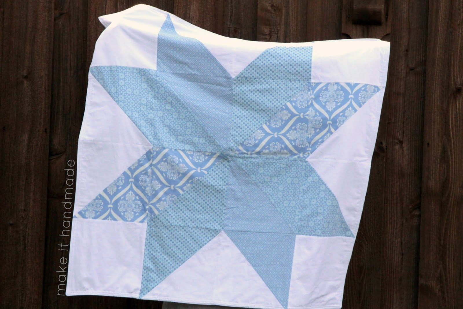 How to sew a big star baby blanket no quilt how to sew a no quilt star baby blanket jeuxipadfo Gallery