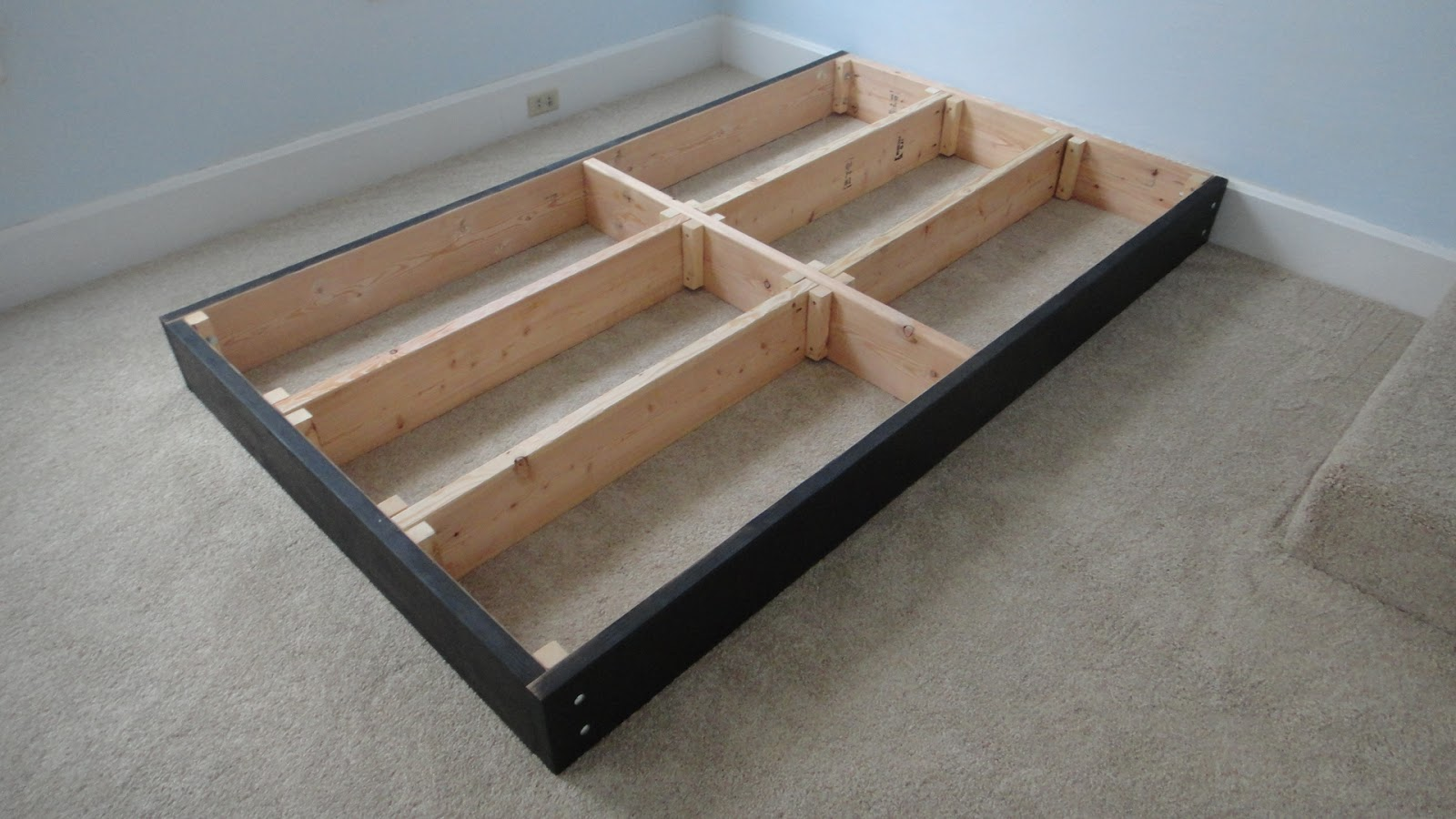 Bed frames with storage plans - Tinkers Workshop Two More Steps Forward On The Platform Bed Project