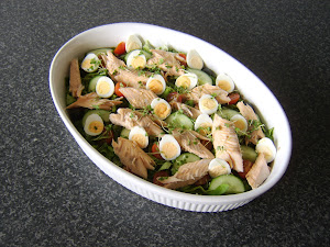 Steam Baked Sea Trout and Quails Egg Salad Recipe