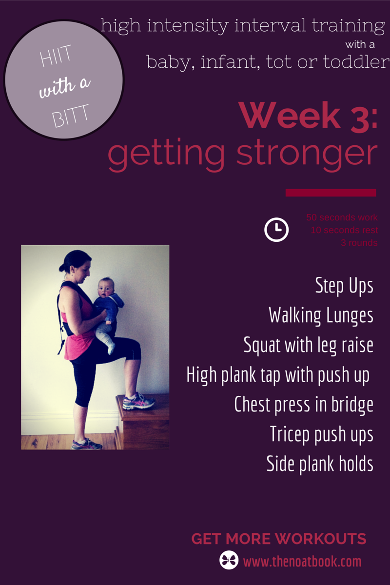 Working out with your baby HIIT with a BIIT Week 3