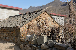 Stone building at Er Dau Guan village in Beijing