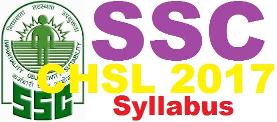 SSC Clerk Syllabus 2017
