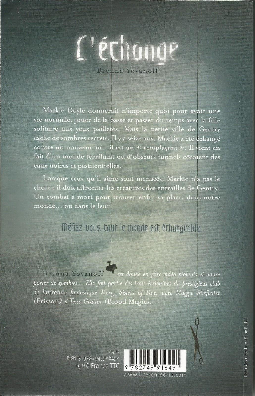 L'Echange Brenna Yovanoff - Synopsis
