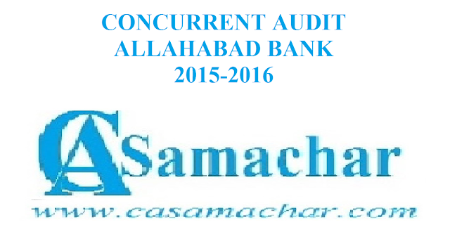 Allahabad Bank Audit 2015