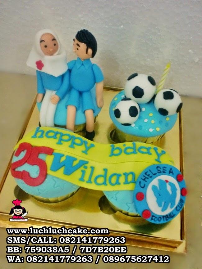 Cupcake Ulang Tahun Untuk Pacar Tema Chelsea Daerah Surabaya - Sidoarjo