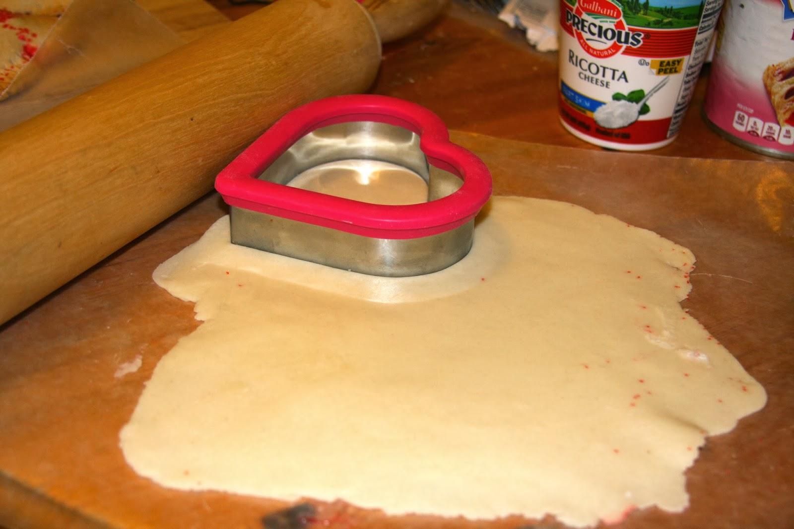 cutting the pie dough