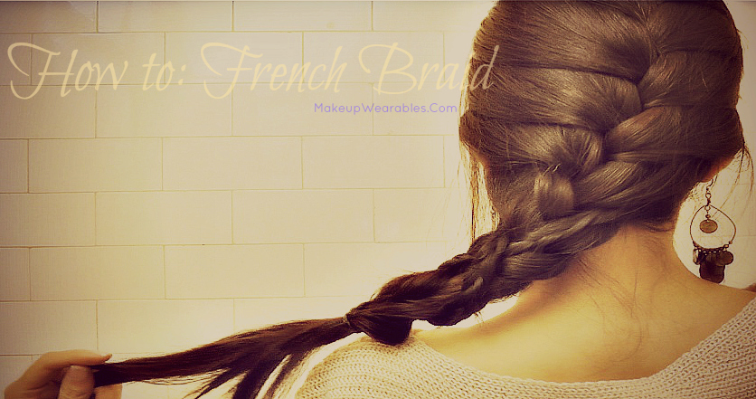 How to French Braid Your Own Hair for Beginners, step by step, Hair Tutorial for Medium Long Hair Hairstyles Video