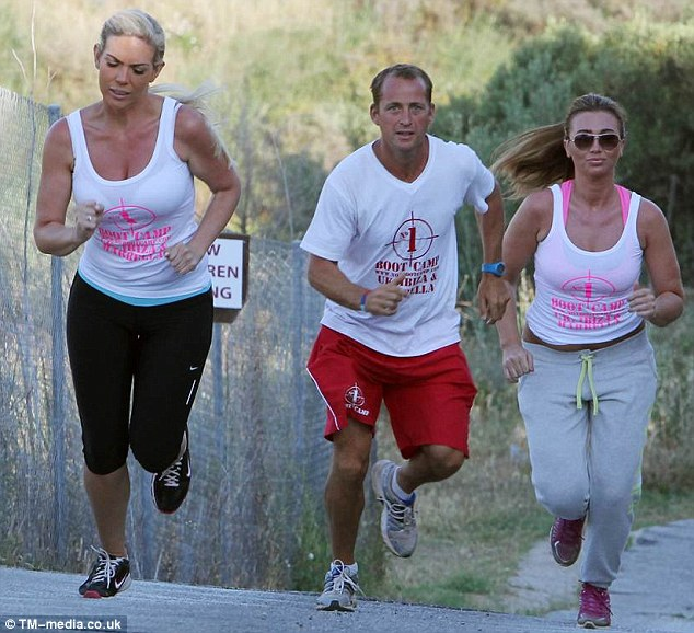 569a2dee2b TOWIE stars Lauren Goodger and Frankie Essex hit bootcamp in Marbella this  week to help them lose weight