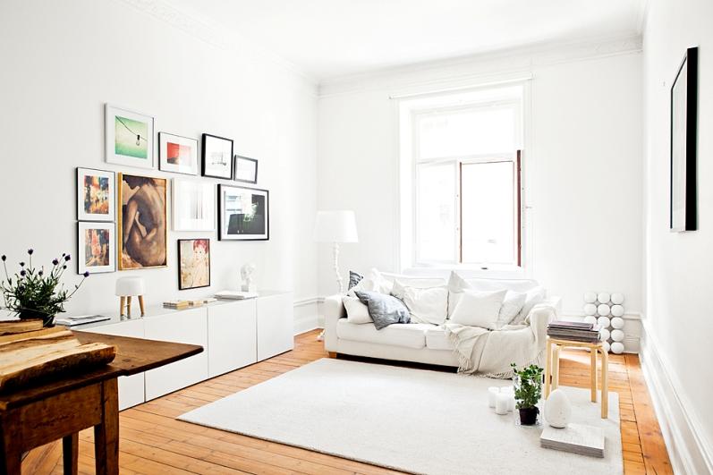 Sencillamente perfecto simply perfect - Muebles salon blanco y madera ...