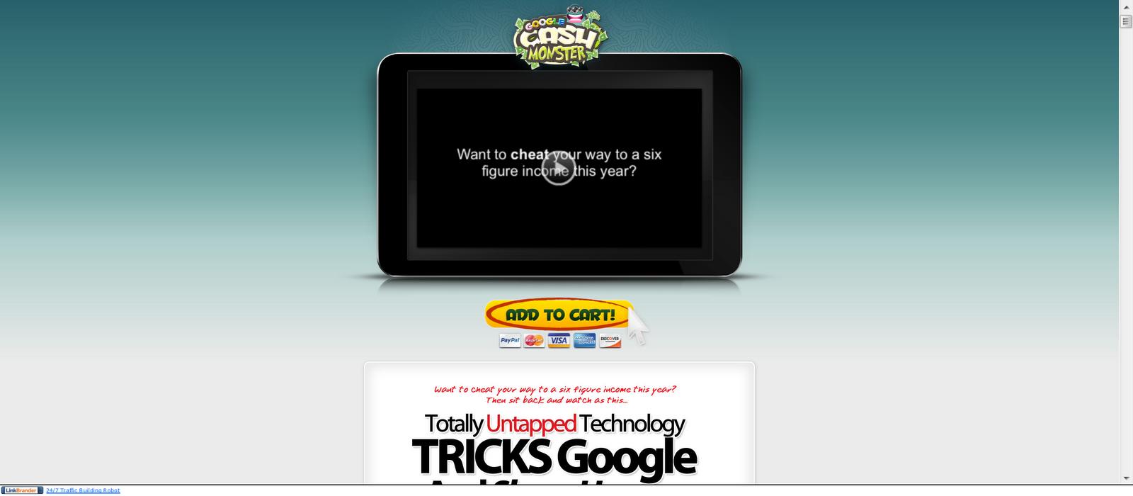 Google Cash Monster Review: 2011