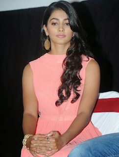 Actress Pooja Hegde Pictures in Short Dress at Oka Laila Kosam Prerelease Press Meet  63.jpg