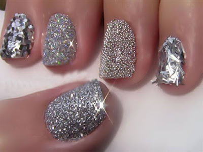 Shiny Nail Art Designs