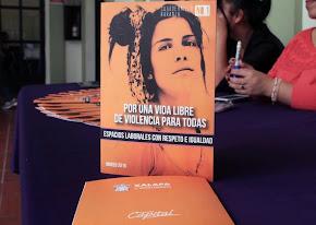 """Presentan Cuadernillo naranja, """"Por una vida libre de violencia para todas"""""""