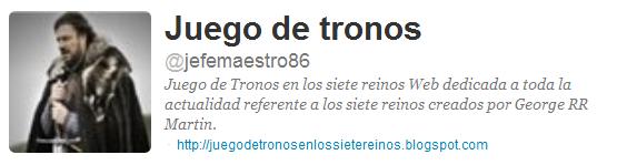 @jefemaestro86, Juego de Tronos en twitter