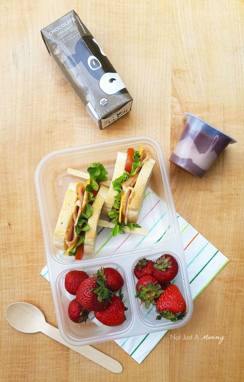 Make Lunch  Easy With Foster Farms; sandwich with chocolate milk