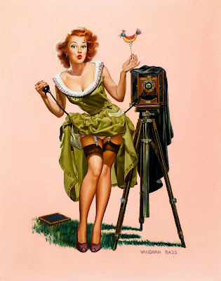 Vintage Pin Up Girl by Vaughan Bass