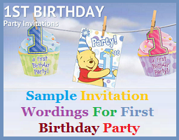 Sample Invitation Wordings: Invitation Wordings For First ...