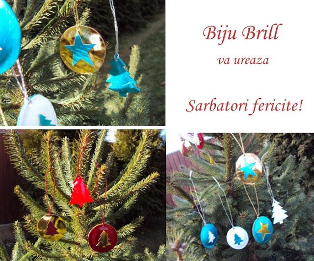 Biju Brill Merry Christmas Craciun Fericit Joyeux No 235 L
