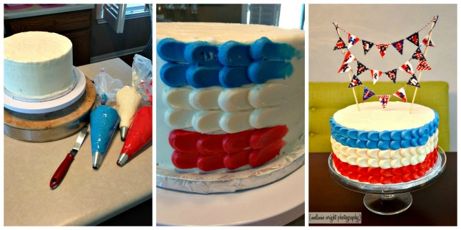 The Holland House: Red White and Blue Petal Cake
