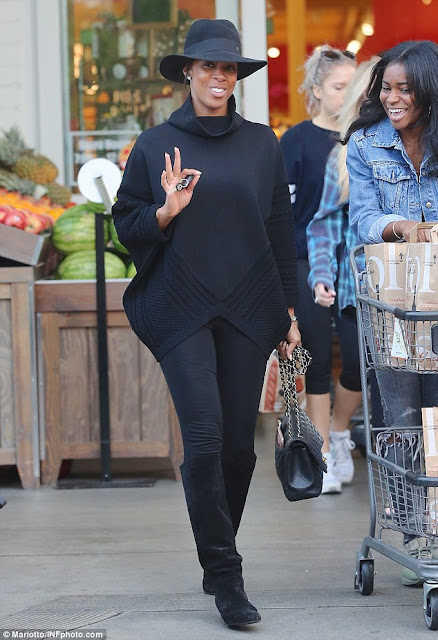 Kelly Rowland steps out with her son