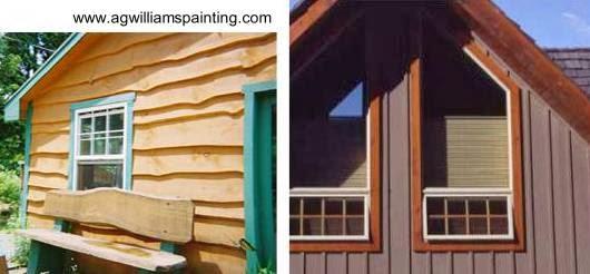 Dos variedades de siding de madera en casas americanas