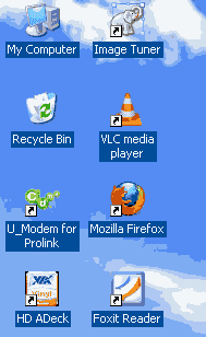 Menghilangkan Background Icon di Windows XP