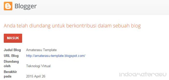 Masuk invit blogger baru
