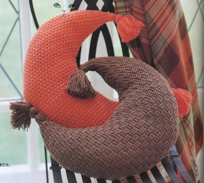 Original almohadón media luna | Crochet y Dos agujas - Patrones de ...