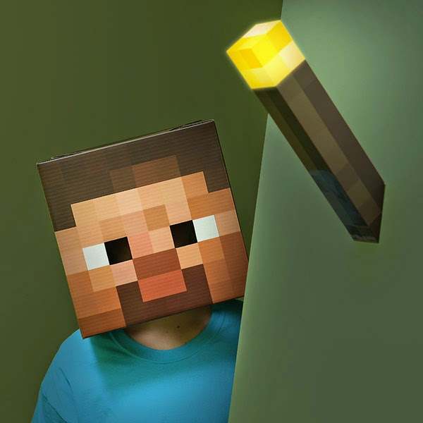 5. Minecraft Light-Up Torch