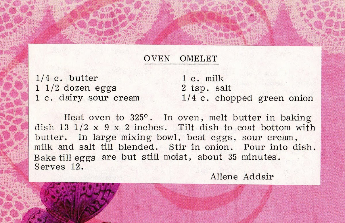 Oven Omelet (quick recipe)